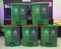 thùng rác 2 ngăn phân loại rác tại nguồn