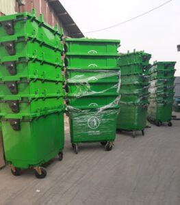 xe thu gom rác 660l nhựa HDPE