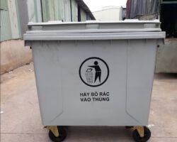 Xe thu gom rác 1100 lít nhưạ HDPE