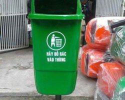 thùng rác cọc treo đơn 55l