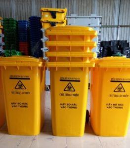 Thùng rác 240 lít đựng chất thải lây nhiễm