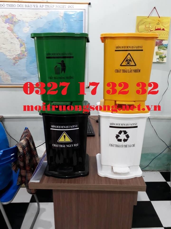 thùng rác y tế màu vàng 20 lít