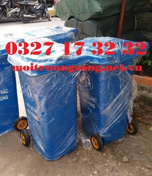 thùng rác 240L nhựa composite