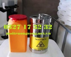 hộp đựng vật sắc nhọn inox 2 lít