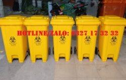 thùng đựng rác thải lây nhiễm covid-19