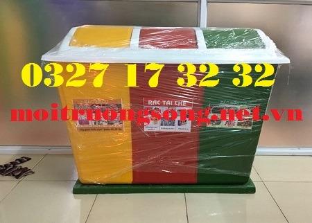 thùng rác composite 3 ngăn lùn
