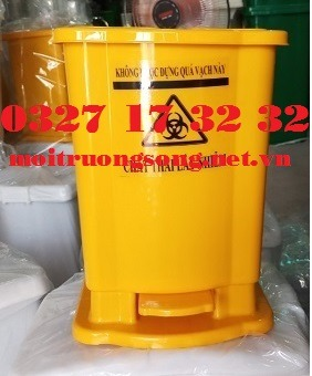thùng rác y tế màu vàng chất thải lây nhiễm 15 lít