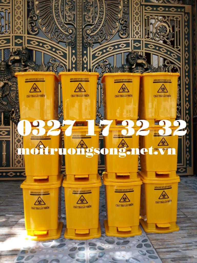 Thùng đựng rác Covid-19 20 lít đạp chân