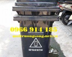 thùng đựng rác thải nguy hại 120 lít