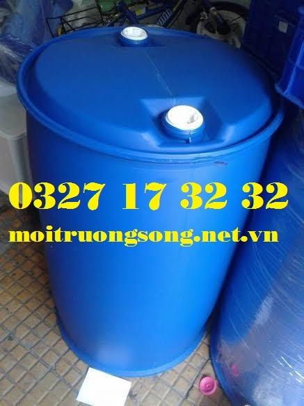 thùng phuy nhựa nắp kín 220 lít