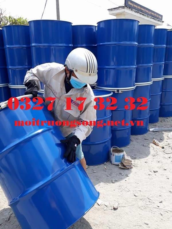 thùng phuy sắt tráng men epoxy 220 lít