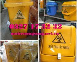 Thùng đựng rác y tế Covid-19