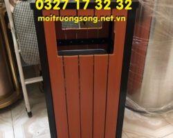 thùng rác gỗ ngoài trời HG – A75 – C