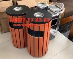 Thùng rác gỗ tròn A78C