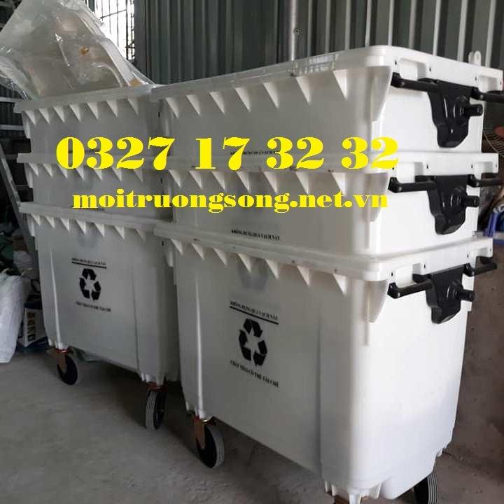 xe thu gom rác tái chế 660l