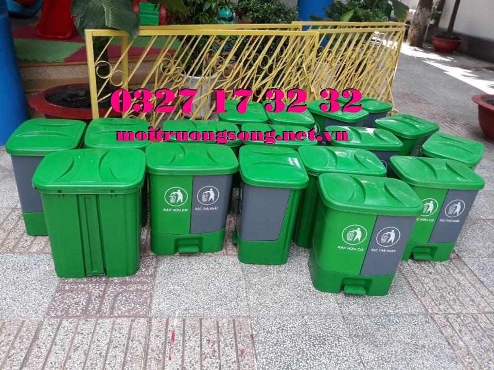 Tổng kho thùng rác 2 ngăn 40 lít