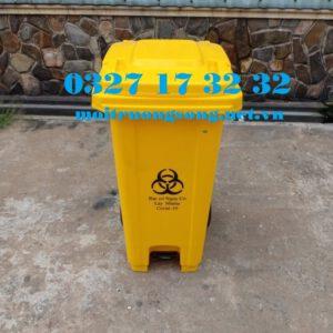 Thùng rác y tế 120l đạp chân