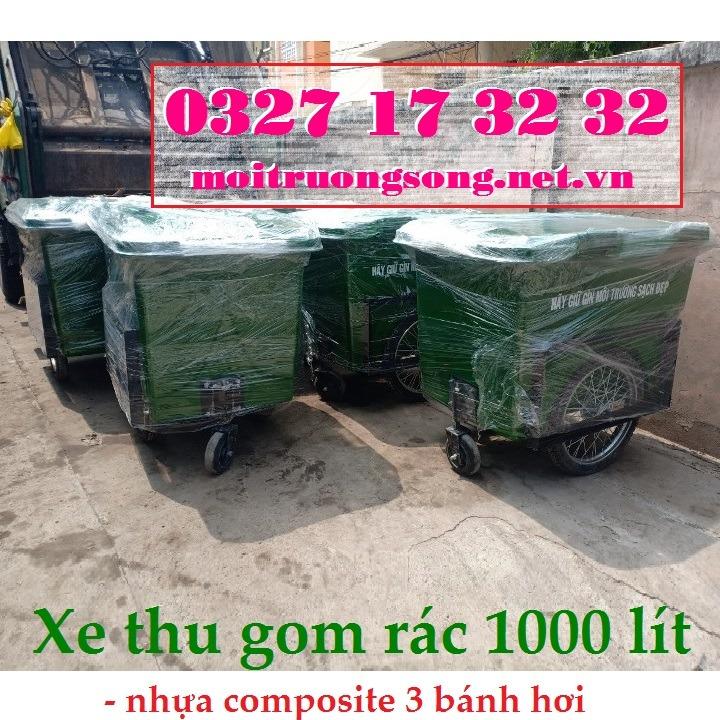 Xe đẩy rác nhựa composite 1000L