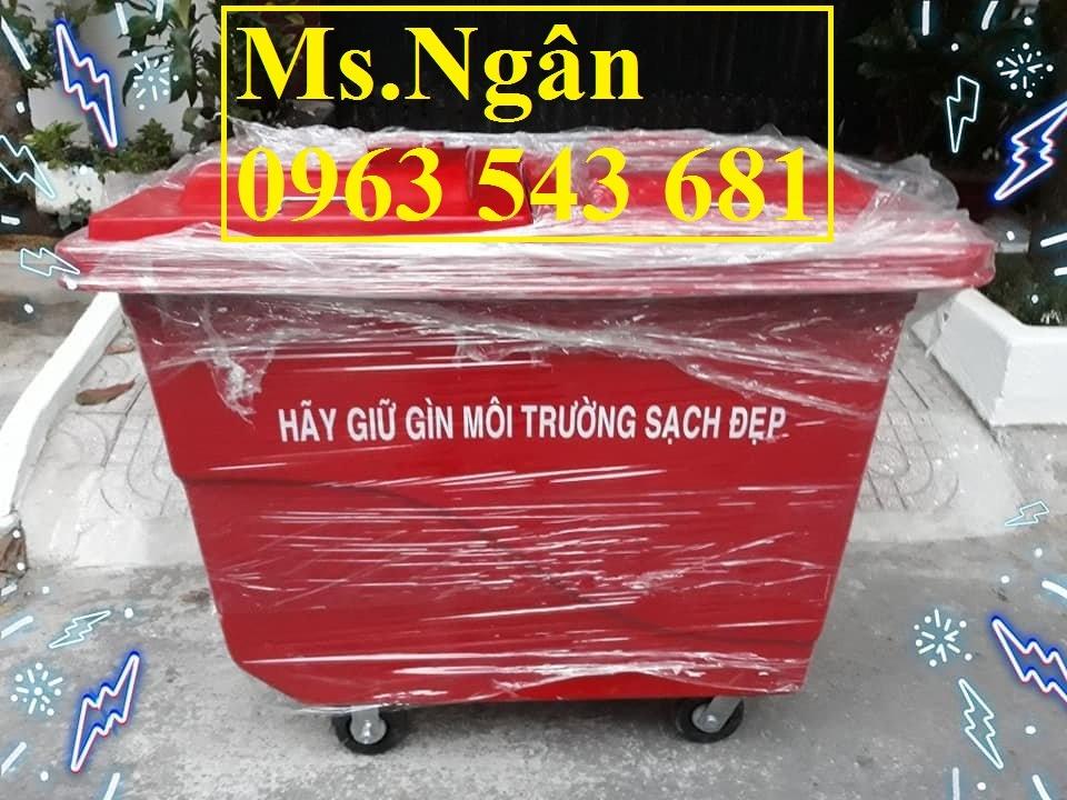 Xe thu gom rác 1000L 4 bánh đúc đặc