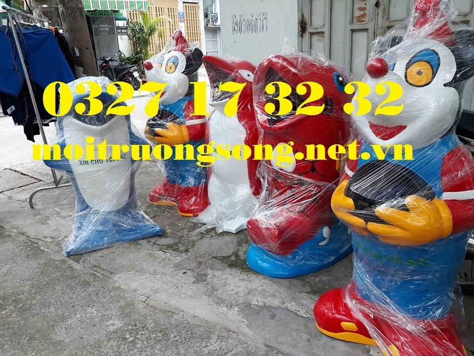 mẫu thùng rác nhựa thông dụng