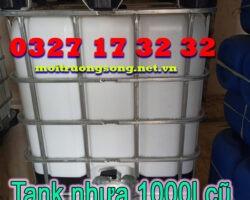 Thanh lý đẩy hàng tank nhựa 1000l cũ