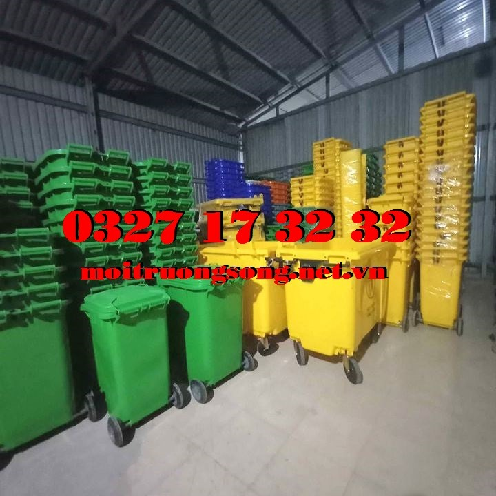 thùng đựng rác công cộng nhựa HDPE