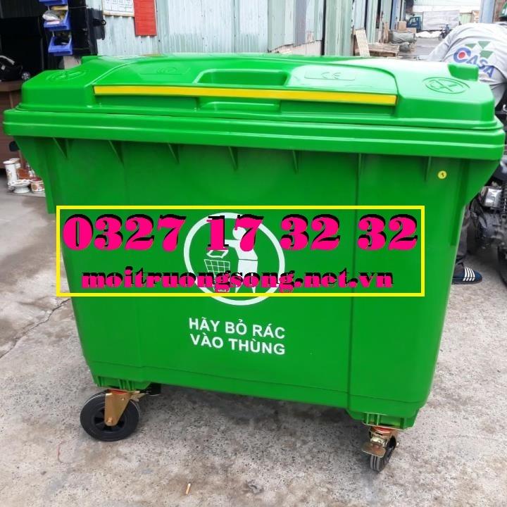 thùng rác nhựa 660l giá bao nhiêu