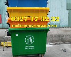 Các màu thông dụng thùng rác nhựa 660l