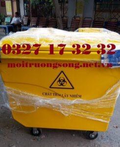 Các loại thùng rác y tế 660l composite