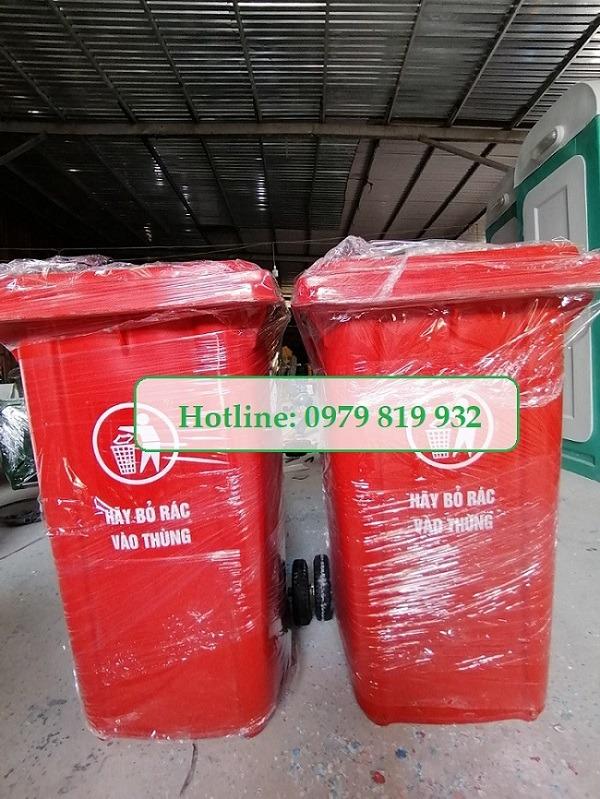 Thùng rác Composite 240L Có Vân