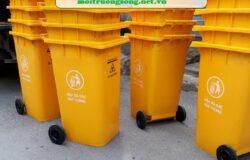 thùng đựng rác y tế 120L