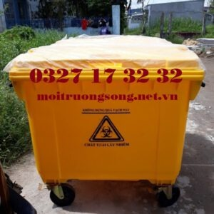 Các loại thùng rác y tế 660l