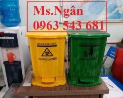 Thùng rác y tế chứa rác thải Covid