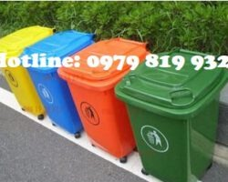 Thùng rác 60L nhựa HDPE