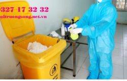 thùng rác chứa chất thải có nguy cơ chứa sars-cov2