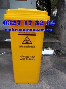 Các loại thùng rác y tế 120 lít