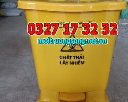 thùng rác y tế 15 lít đựng chất thải có nguy cơ chứa sar-cov-2