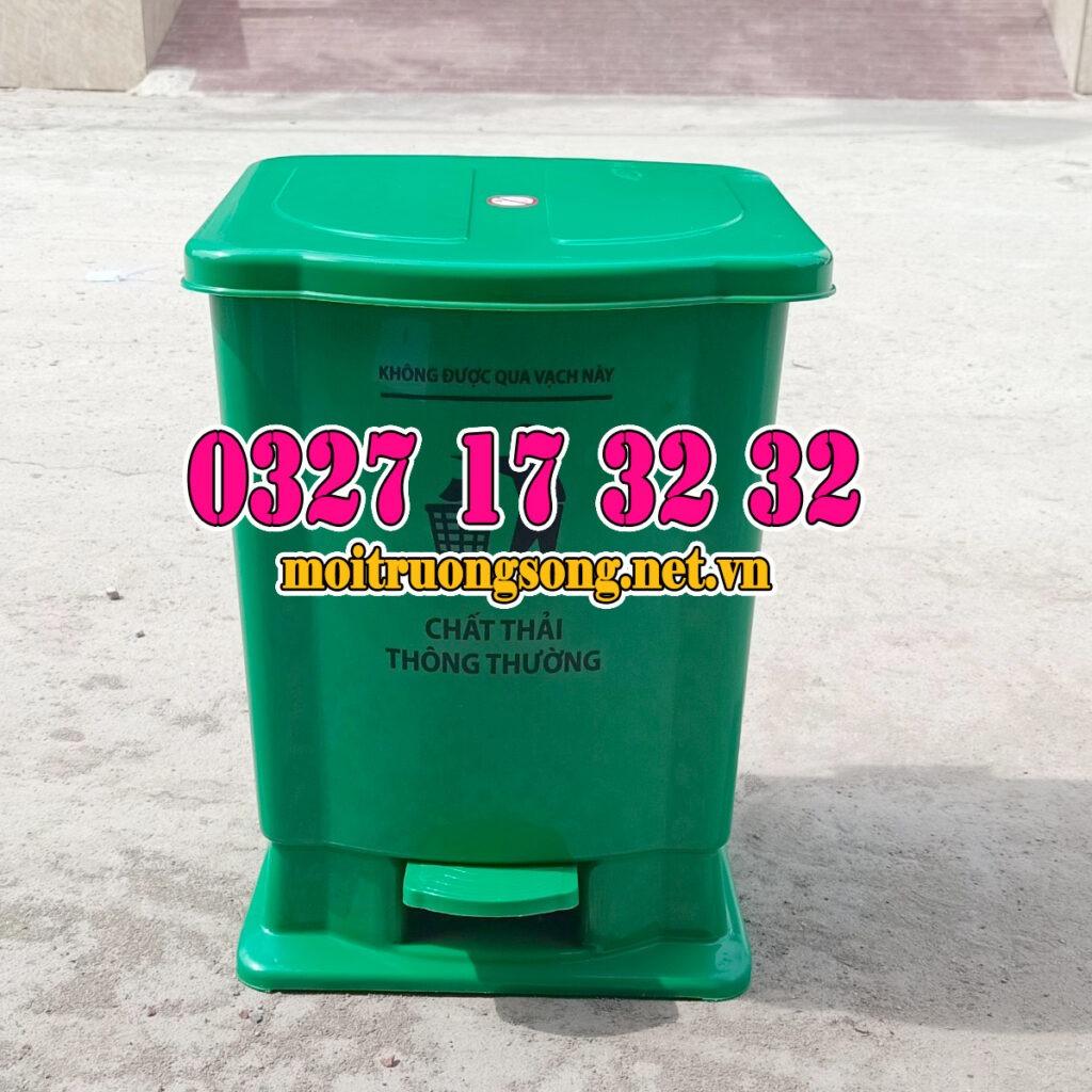 Thùng rác y tế 15 lít đạp chân