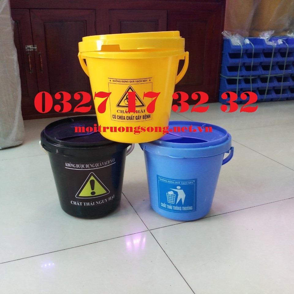 Thùng rác y tế 5L hay xô y tế 5L