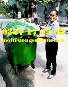 Thùng rác môi trường 660l