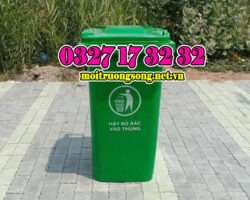 thùng rác công cộng, thùng đựng rác công nghiệp 120l,