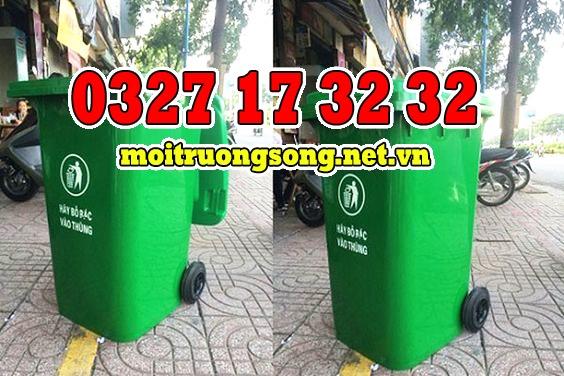 thùng rác công nghiệp 240 lít cách dùng