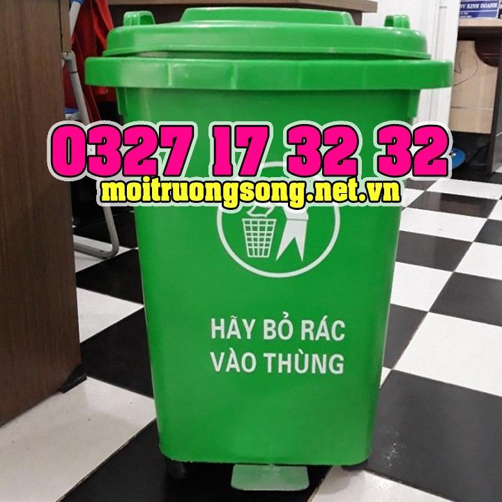 thùng rác công nghiệp 60l đạp chân
