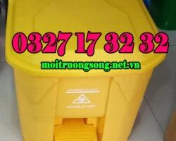 thùng rác y tế 30 lít màu vàng