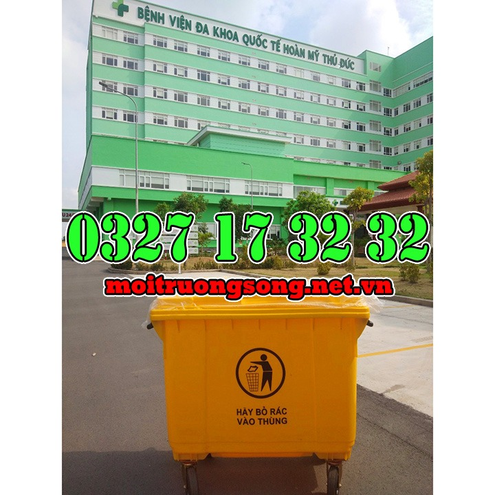 Thùng rác công nghiệp 660l cho bệnh viện