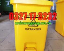 thùng rác y tế 25 lít màu vàng