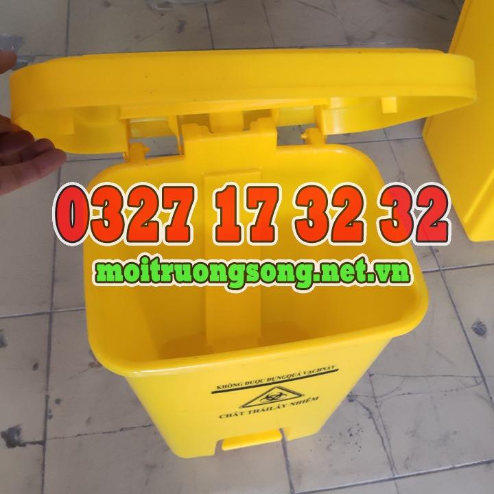thùng rác y tế 25 lít rác lây nhiễm