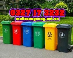 thùng rác 240 lít giá rẻ HCM