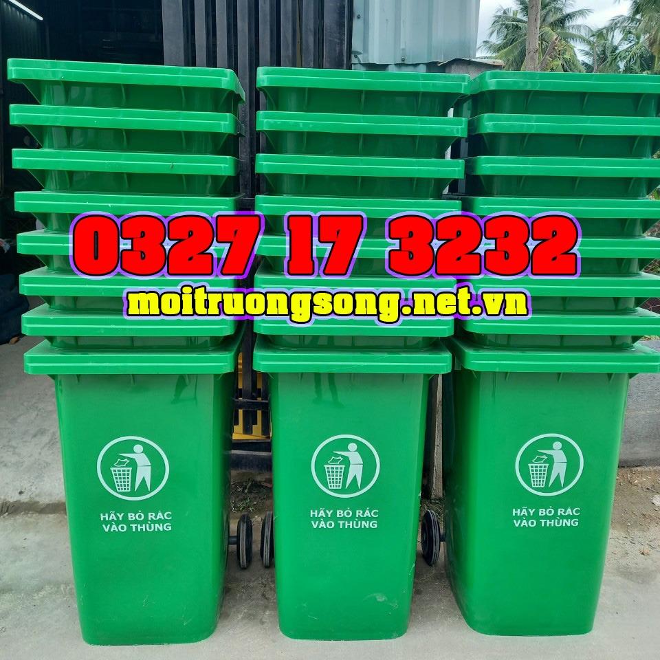 thùng rác 240 lít nhựa HDPE