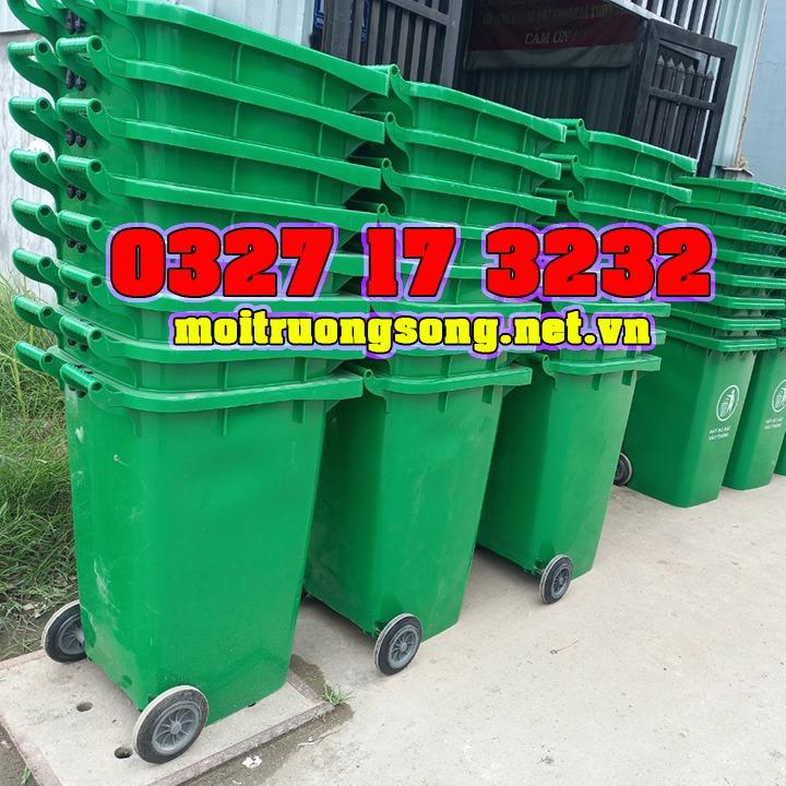 thùng rác 240 lít có bánh xe
